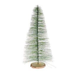 Fenyőfa flokkolt műanyag 55cm zöld havas