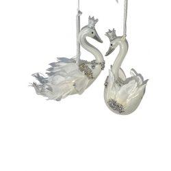 Fehér madár akasztós 13cm