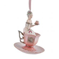 Lány csészében dísz