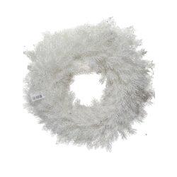 Asztaldísz ezüst-fehér koszorú 53cm