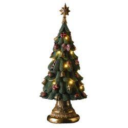 Karácsonyfa szines díszekkel 60X30cm