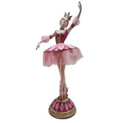 Balettos lány arany rózsaszín 30x21cm