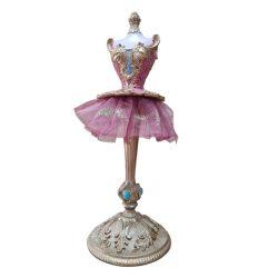 Ékszertartó Pink ruhás lány kerámia