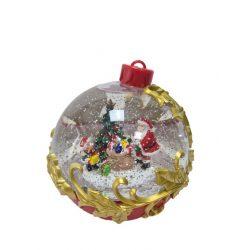 Karácsonyi hógömb ledes mikulás,hóember 25cm