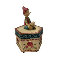 Pinoccio zenélő doboz 17cm
