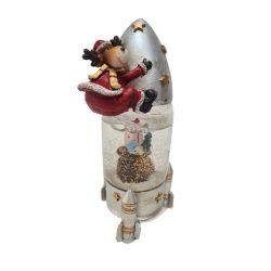 Űrhajós kutya hógömb 18cm