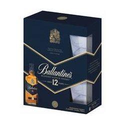 Ballentines whiskey 0,7l+2db pohár