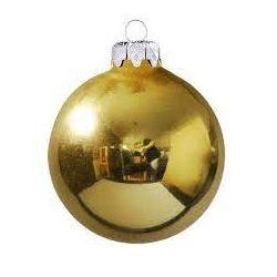 Arany gömb karácsonyfa dísz 10cm/db