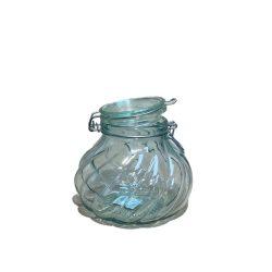 Üveg tároló csatos 1,8L