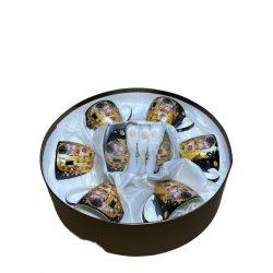 Teás csésze + alj szett 6db-os dobozban