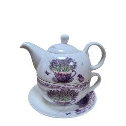 Teás szett tányér+bögre+kancsó
