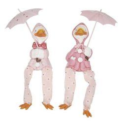 Kacsa esernyővel lógólábú 7,5x6x12cm