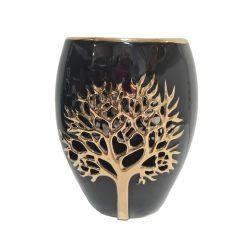 Váza kerámia fekete-arany