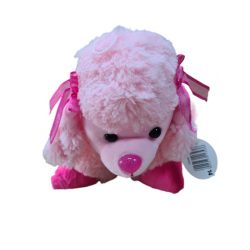 Plüss párna kutya pink