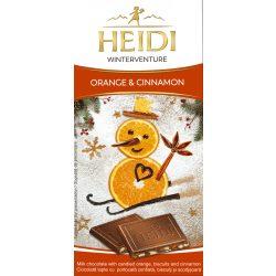 Heidi 90g tejcsokoládé narancs-fahéj